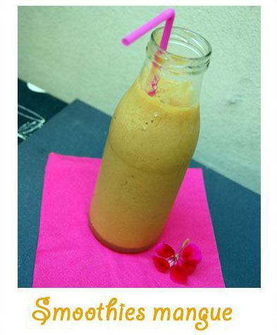 Smoothies à la mangue