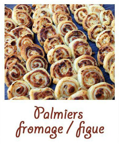 Palmiers au fromage / figue