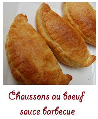 Chaussons au boeuf sauce barbecue