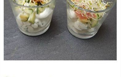 Verrine chèvre courgette