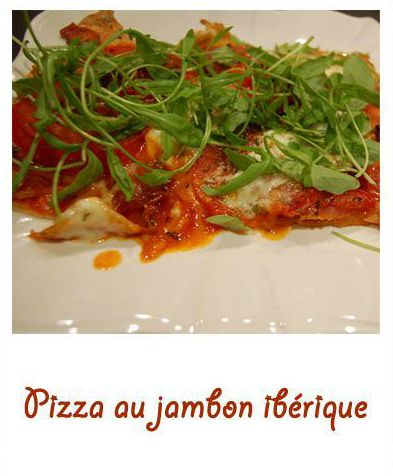 Pizza au jambon ibérique