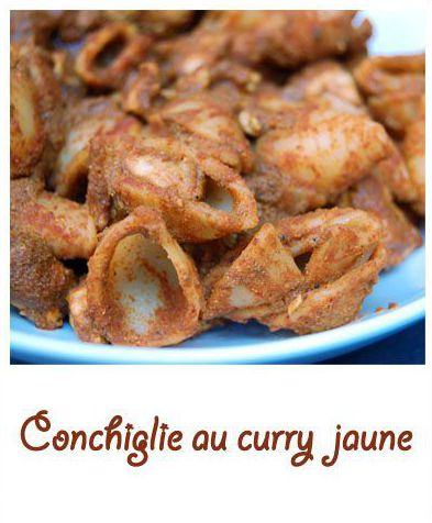 Conchiglie au curry jaune