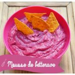 Mousse rose à la betterave ou houmous à la betterave