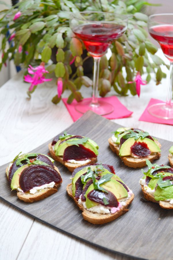 Bruschettas betterave/avocat