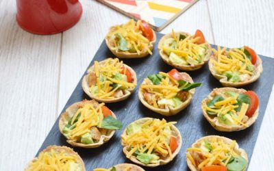 Mini tortilla cups avocat et poulet