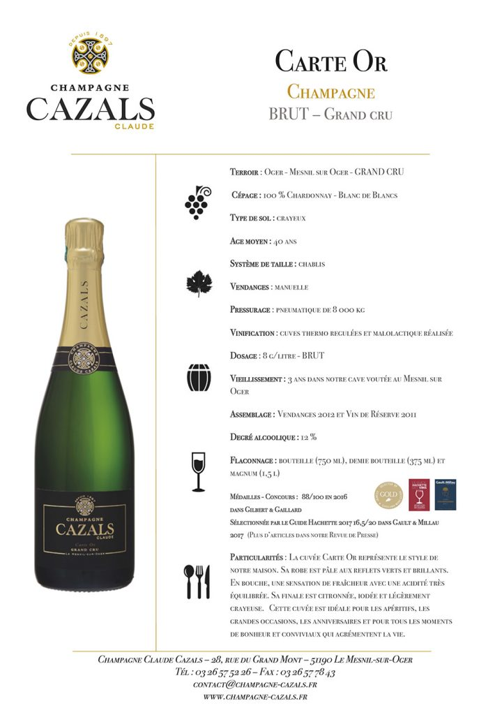 Carte_Or Champagne Cazals