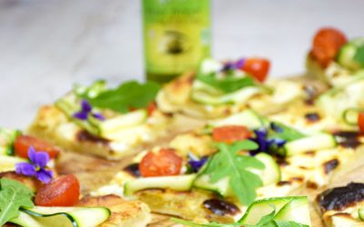 Pizza mascarpone et courgette